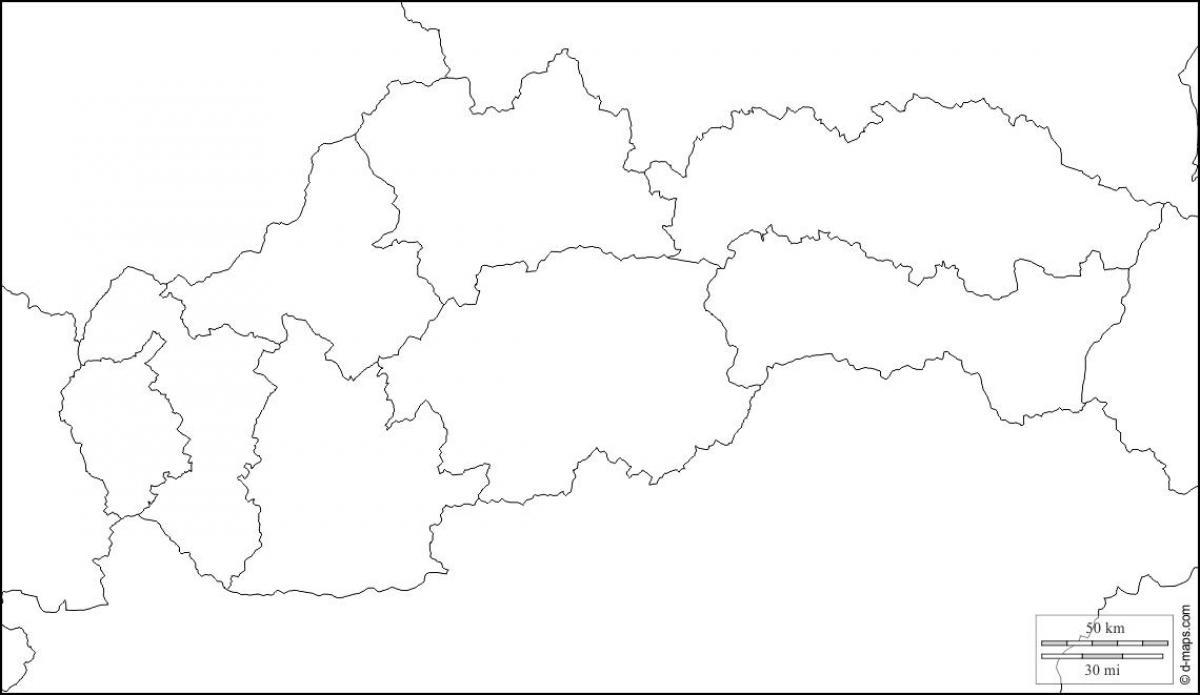 Image of: Slovakia Blank Map Map Of Slovakia Blank Eastern Europe Europe
