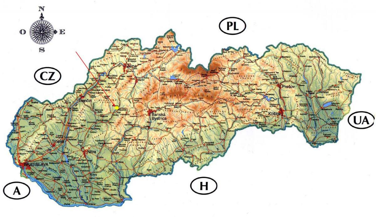 map of Slovakia castles