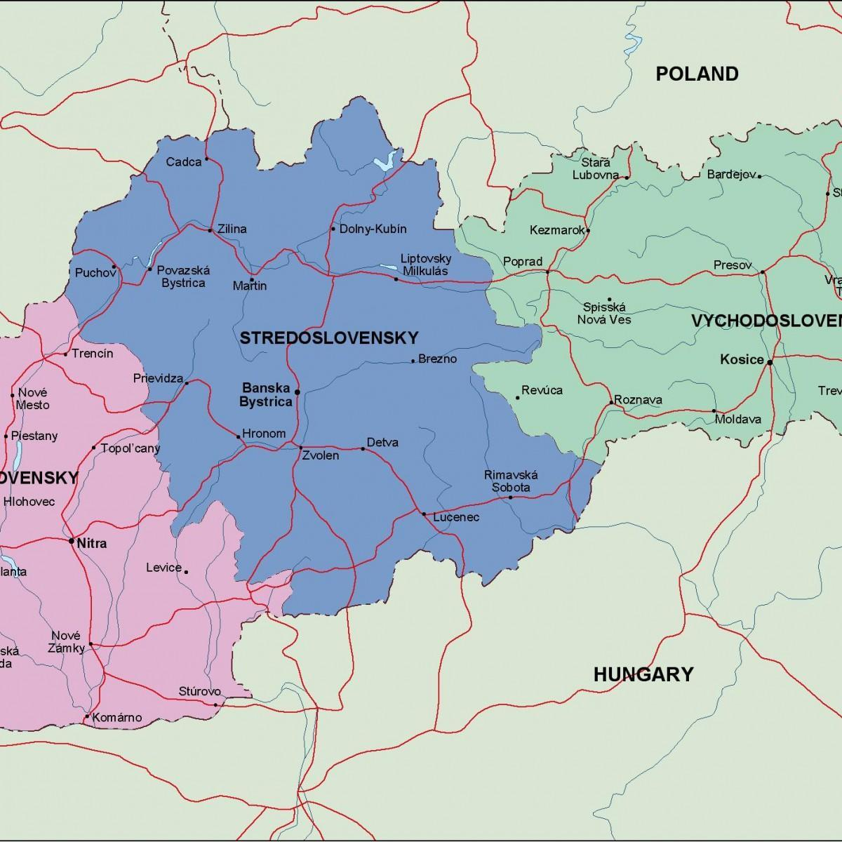 map of Slovakia political