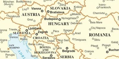 Map Slovakia surrounding countries