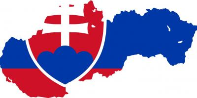 Map of Slovakia flag