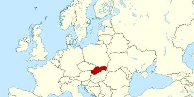 Map of Slovakia map europe