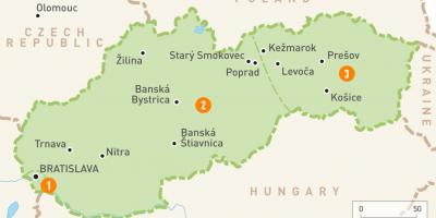 Slovakia in map